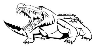Crocodile. Illustrator desain . eps 10 Stock Illustration