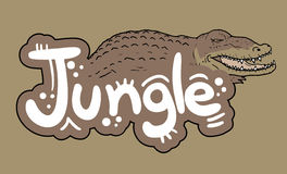 Crocodile jungle Royalty Free Stock Photos