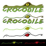 Crocodile label royalty free illustration