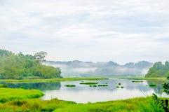 Crocodile lake in the jungle of cat Tien national park in Vietnam. View on crocodile lake in the jungle of cat Tien national park in Vietnam Royalty Free Stock Image