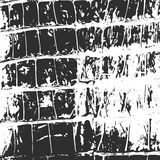Crocodile leather, abstract texture black on white Royalty Free Stock Photos