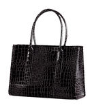 Crocodile leather handbag isolated  Royalty Free Stock Photography