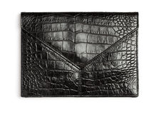 Crocodile leather clutch Stock Image