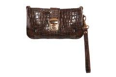Crocodile leather handbag Royalty Free Stock Photography