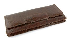 Crocodile leather wallet Royalty Free Stock Photos
