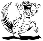 Crocodile. Line art crocodile image on white background Royalty Free Stock Photography