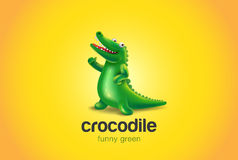 Crocodile Logo abstract funny design vector Alliga Royalty Free Stock Image