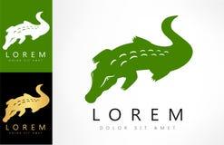 Crocodile logo vector. Logo design vector illustration stock illustration