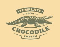 Crocodile logo - vector illustration. Alligator emblem design Stock Photography