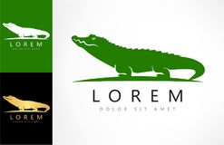 Crocodile logo vector. Logo design vector illustration royalty free illustration