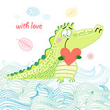 Crocodile in love Royalty Free Stock Photography