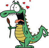 Crocodile In Love Stock Photo