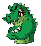 Crocodile Mascot Stock Image