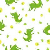 Crocodile mignon dans le style de bande dessinée Configuration Photo libre de droits