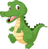 Crocodile mignon de bande dessinée Photo libre de droits