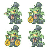Crocodile millionaire banker Royalty Free Stock Photo