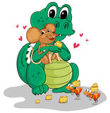 Crocodile and mouse Royalty Free Stock Photography