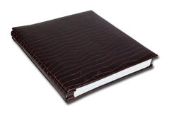 Crocodile notebook isolate on the white. Stock Photos
