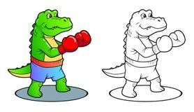 Crocodile preparing to boxing match Stock Image