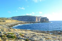 Crocodile Rock in Gozo Island, Malta Stock Photo