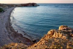 Crocodile Rock on the Lake Balkhash, Kazakhstan Stock Images