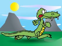 Crocodile run Stock Images