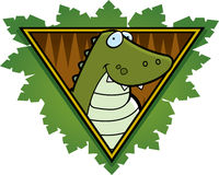 Crocodile Safari Icon Royalty Free Stock Photography