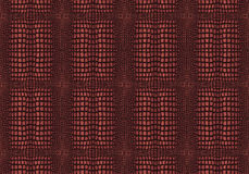 Crocodile Skin. Dark Brown Crocodile Skin Texture - Illustration with Pattern in Swatches Stock Images