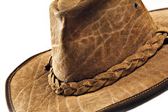 Crocodile skin leather hat Royalty Free Stock Image