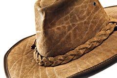 Crocodile skin leather hat Royalty Free Stock Image