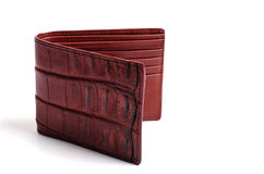 Crocodile skin wallet Royalty Free Stock Photos