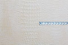 Crocodile skin white leather background with jewels Stock Images