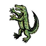 Crocodile Standing Up Tattoo Stock Photos