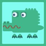 Crocodile stylized cartoon icon. Crocodile stylized cartoon animal icon. Baby style vector illustration