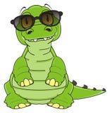 Crocodile in sunglasses Stock Image