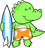 Crocodile surfant Photos stock