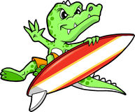 Crocodile Surfer Vector Stock Photo