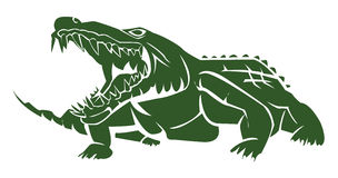 Crocodile. Symbol illustrator design .eps 10 Stock Illustration