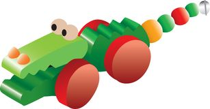 Crocodile toy illustration Royalty Free Stock Images
