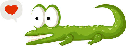 Crocodile vector Stock Images