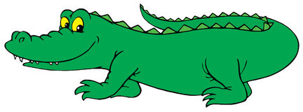 Crocodile (vector clip-art) Royalty Free Stock Photo