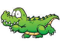 Crocodile. Vector illustration of Cartoon crocodile royalty free illustration
