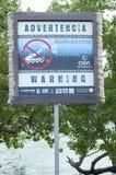 Crocodile warning Royalty Free Stock Photos