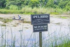 Crocodile warning sign Stock Images