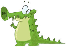 Crocodile waving stock illustration
