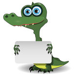 Crocodile and white background Stock Image