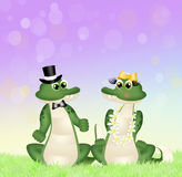 Crocodiles couple Royalty Free Stock Images