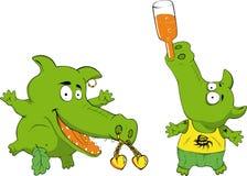 crocodiles drôles Images libres de droits