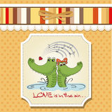 Crocodiles in love Royalty Free Stock Photos