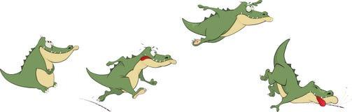Crocodiles. Set various green a crocodile stock illustration